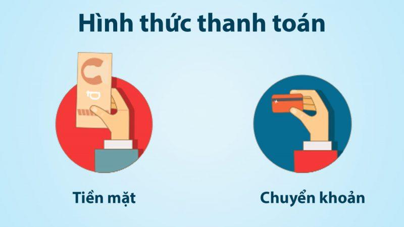 Hình thức thanh toán - nhôm kính AGC Việt Nam