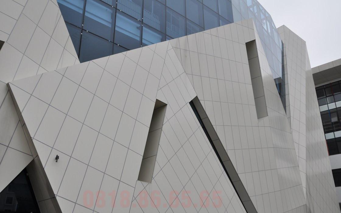 Tấm ốp nhôm Aluminium sử dụng mặt tiền cho tòa cao ốc