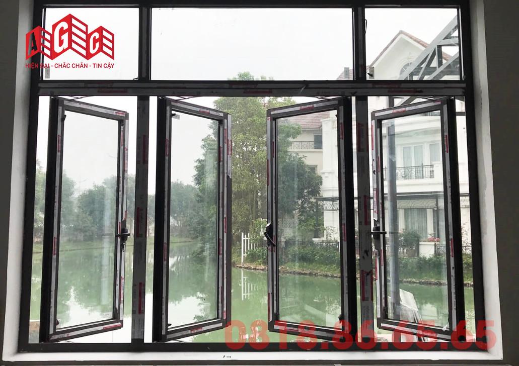 Một số mẫu cửa mở quay nhôm Xingfa