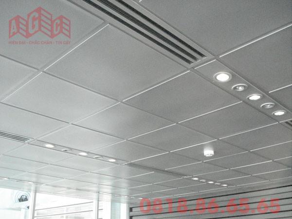 Trần nhôm lộ khung - nhôm kính AGC Việt Nam
