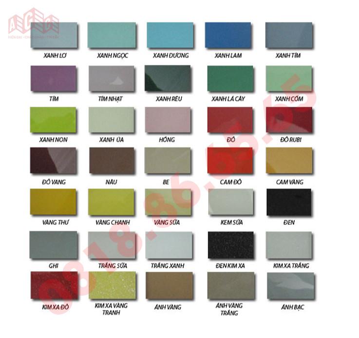 Một số màu sắc kinh ốp bếp hay sử dụng
