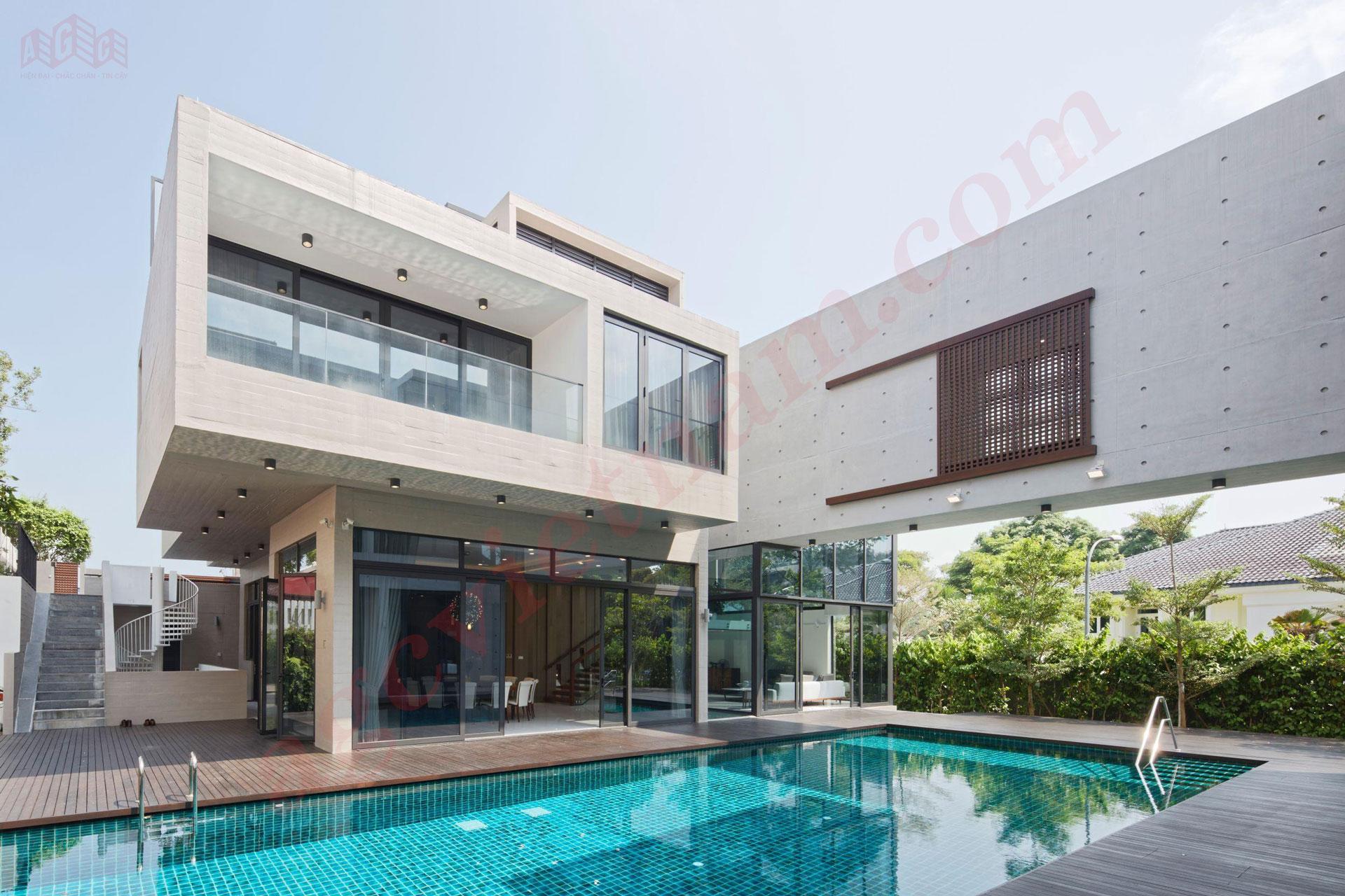 Hình ảnh thực tế cửa nhôm cao cấp Schuco cho biệt thự, villa