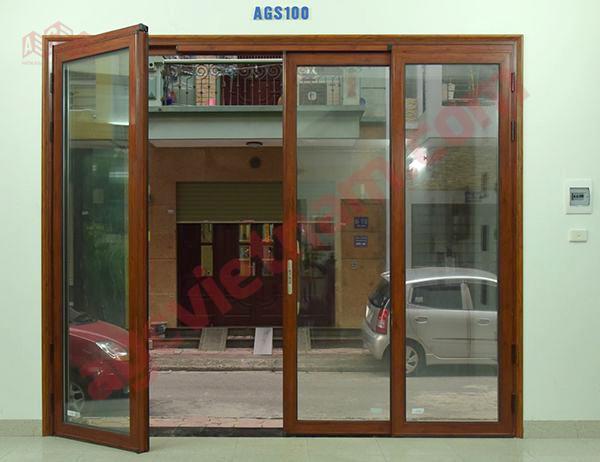 Cửa nhôm kính trượt quay Zhongkai hệ AGS100