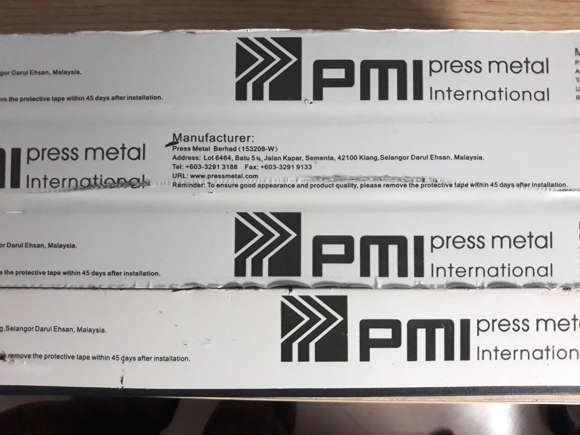 Thanh profile nhôm PMI nhập khẩu Malaysia